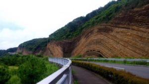 伊豆大島の断層
