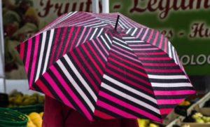 開いた雨傘