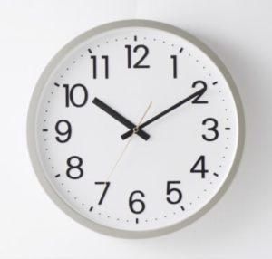 数字表記の掛け時計
